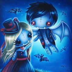 I Love you pieces she says as she got a house full kids n shes ready to play already she needs go shower. Voodoo Doll Tattoo, Voodoo Dolls, Gothic Fantasy Art, Gothic Fairy, Emo Art, Goth Art, Halloween Artwork, Halloween Drawings, Princesas Disney Dark