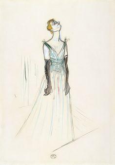 Henri de Toulouse-Lautrec Yvette Guilbert 1893 Gouache y carboncillo sobre papel 54 x 37,5 cm Museo Thyssen-Bornemisza, Madrid Nº INV. 772 (1974.27)