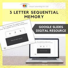 This digitally interactive resource is designed for use with Google Slides. This resource contains 20 slides in total.The student must remember the sequence in the top box, so that they can identify the missing letter in the bottom box.