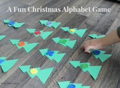 A fun and simple Christmas alphabet game for kids - my preschooler loves this matching game to practice his ABCs