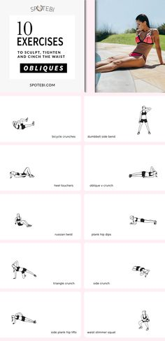 Shape a sexy hourglass figure and get rid of your muffin top with this killer OBLIQUES WORKOUT! https://www.spotebi.com/workout-routines/obliques-workout-sexy-little-waist/