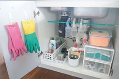 The kitchen cupboard is one that many of my readers have trouble keeping tidy, so I show you how to organise under the kitchen sink cupboard.