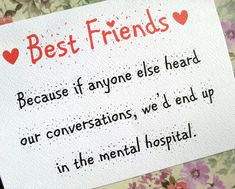 Best Friends Card by LolasLoveNotes on Etsy