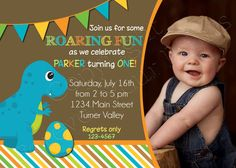 Dinosaur Birthday Invitation By ForeverYourPrints 1500 First Boys Party Ideas