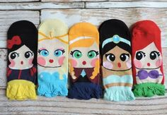 Fun and functional, check out these fun Fairy Tale Inspired Socks! We have 5 fun styles to choose from. These socks fit shoe size 5 - 10 women's. These socks are made from cotton / polyester and are elastic for a perfect fit. Treat your socks with TLC by washing in cold and laying flat to dry.