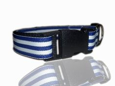 Nautical Sailor Blue And White Stripe Dog Collar From £10