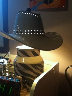 Love the clever cowboy hat lamp shade crafts lighting lamps cowboy hat lamp mozeypictures Gallery