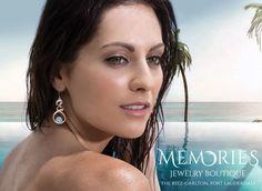 The mini Dante earrings. #Marahlago #MemoriesJewelryBoutique #SummerFashion #Trend #Larimar #DR #FortLauderdale #RitzCarlton #Memories #Beach #Style #Summer #Fashion