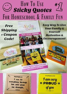 Want an easy & affordable way to give yourself & your family encouragement? Check out Sticky Quotes! These sticky notes are full of inspirational & motivational phrases to help you share positive thoughts all day long!