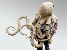 recycled octopus costume