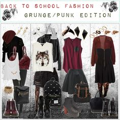 Back to School Fashion Grunge/Punk Edition - Polyvore