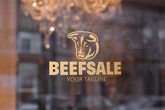 Bull Animal Logo. By Steinar Logo on @creativemarket