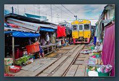 Maeklong Railway Market Bangkok, Thailand
