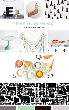 Ice Cream Social Party Mood Board // Mara Dawn