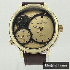 Ice Star Best selling Mens Smart duel time leather band fashion watch. Elegant Times introduces Ice Star Brand new with best quality Duel time fashion watch water resistant 30 m (3 atm) Weight: 0.3 pounds Best Selling Contact Us to buy alot in wholesale price Check Out our Other Similar Products on Ebay.