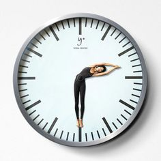 Yoga Center clock - well thought out
