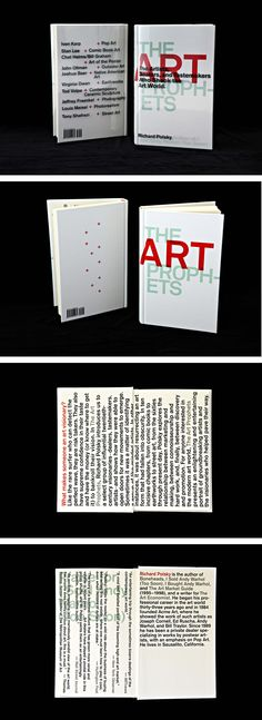 Designed by Carin Goldberg. Title: The Art Prophets. Book Jacket, Cover Design, Book Covers, Typography, Cards Against Humanity, Author, Books, Jackets, Art