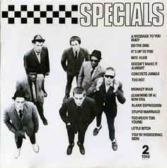 The Specials Album - Standout Track - A Message To You Rudy. This album just 'sounds' like summer to me! The reggae influencing ska vibe can't help but put me in the mood for sun and rum! Lp Cover, Vinyl Cover, Lp Vinyl, Vinyl Records, Cover Art, Lps, Elvis Costello, Gorillaz, Ska Music