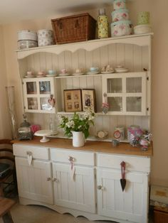 Pine Welsh Dresser Shabby Chic French Farrow Ball Off White 03 Country And