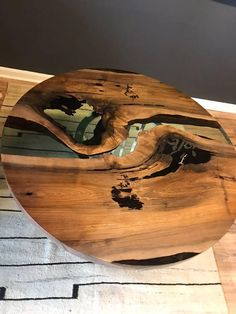 Wood and Resin Dining Table
