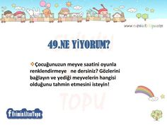 çocuklar için oyun önerileri Home Activities, Infant Activities, Future School, Classroom Games, Hosting Company, Child Development, Special Education, Games For Kids, Kids And Parenting