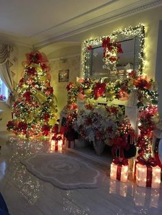 41 Ideas Christmas Tree Decorations Ideas Beautiful Holiday Decorating For 2019 Classy Christmas, Silver Christmas, Christmas Home, Holiday Tree, Christmas Christmas, Christmas Pictures, Christmas Heaven, Christmas Tree With Presents, Christmas Living Rooms