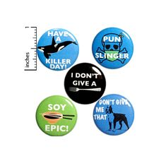 Pun Button 5 Pack of Backpack Pins Cute Pins Animal & Food | Etsy Funny Work Jokes, Funny Puns, Work Humor, Funny Food, Puns Jokes, Funny Humor, Love Articles, Funny Buttons, Introvert Humor