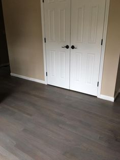 We took the plunge and went with gray hardwood floors - Minwax Classic Gray on red oak.  I love that it still has some warm undertones so our whole house doesn't have to be repainted gray.