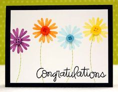 flower congratulation cards, cute idea for spring graduations.