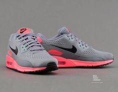 Nike Air Max 90 PRM CMFT EM - Cool Grey / Black / Atomic Red  