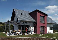 Modernes EFH mit Satteldach - weitere Informationen unter www.baumeinhaus.ch/hausfinder