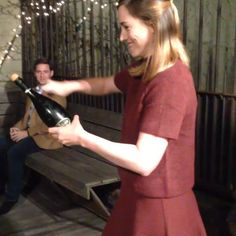 Sabering champagne: terror turns to joy. #thisis30 (press play!)