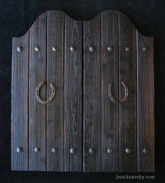 Handcrafted Custom Swinging Saloon Doors Here\u0027s a recently completed pair of saloon doors commissioned by a client in Cincinatti OH. & How to Make Saloon Doors | Style Swinging doors and Doors Pezcame.Com