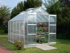 c3af722d7737 Jupiter 2.6m W x 3.2m D Greenhouse Vitavia Colour: Anodised Silver Roof  Vents