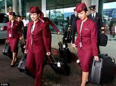 Cabin Crews around the world - Qatar Airways.