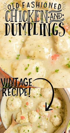 Crockpot Recipes, Soup Recipes, Chicken Recipes, Cooking Recipes, Easy Chicken Thigh Recipes Baked, Recipies, Chicken Ideas, Homemade Chicken And Dumplings, Dumplings For Soup