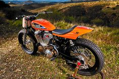 Custom bikes can come from almost anywhere. Brand new factory bikes or clapped-out junkers. Crash victims or botched restorations. But there's one type of donor… Harley Davidson Bike Images, Harley Davidson Sportster 1200, Motorcycle Images, Harley Davidson Motorcycles, Harley Dealer, Moto Bike, Motorcycle Gear, Street Tracker, Custom Bikes