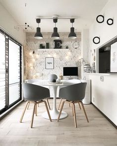 Great use of space in the small minimal dining area