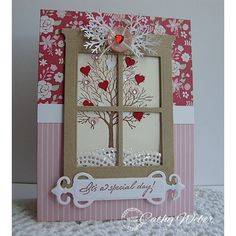 Serendipity Stamps Valentines Card Challenge - 1185 bare tree hearts Cathy Weber - Valentines - Valentine Craft - Valentine Card Ideas   #valentines  #hearts