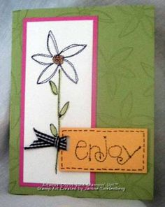 Sew Seasonal Card by JanTInk - Cards and Paper Crafts at Splitcoaststampers