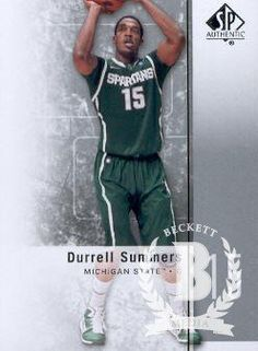 2011-12 Upper Deck SP Authentic Basketball #50 Durrell Summers Michigan State Spartans NCAA Trading Card by SP Authentic. $1.99. 2011 Upper Deck Co. trading card in near mint/mint condition, authenticated by UpperDeck
