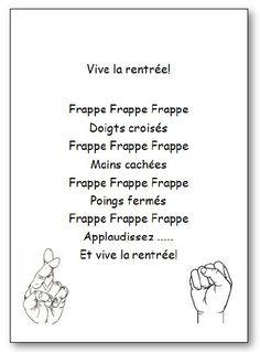 Comptine Vive la rentrée en version imprimable illustrée. Retrouvez d'autres chansons, comptines et poésies en musique et en images