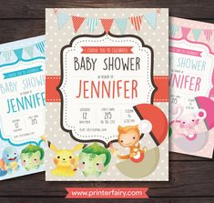 Pokemon Baby Shower Invitations, Cute Pokemon, Printable Invitations