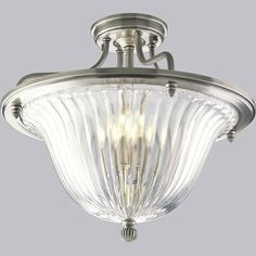 P2817-101:  Roxbury Classic Silver Three-Light Semi-Flush