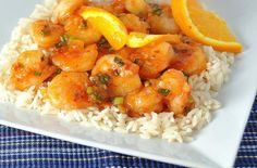 Quick and easy orange stir-fried shrimp from The Way to His Heartis the perfect weeknight meal. Tender succulent shrimp are quickly sauteed in an Asian inspired sauce of orange juice, soy sauce, rice wine vinegar, and chili paste. If you