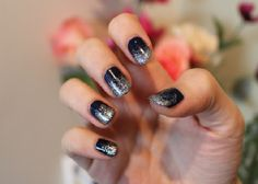 Black And White Ombre Nails - Celebrity plastic surgery photos before and after - http://nailarting.com/black-and-white-ombre-nails/?Pinterest