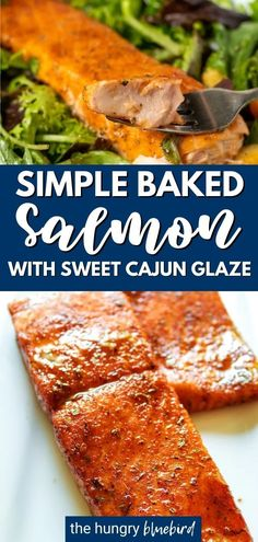 This salmon is the perfect execution of balancing savory with sweetness. Flaky, rich salmon is coated with a delicious glaze created with brown sugar and spicy cajun seasoning. It pairs well with a bed of mixed greens and will melt in your mouth! Easy Salmon Recipes, Fish Recipes, Seafood Recipes, Cooking Recipes, Healthy Recipes, Healthy Food, Dinner Recipes, Salmon Seasoning, Cajun Seasoning