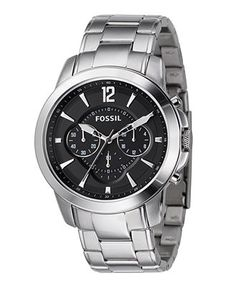 e984082dbd136 Fossil Men s Chronograph Grant Stainless Steel Bracelet Watch 44mm FS4532  Jewelry   Watches - Watches - Macy s