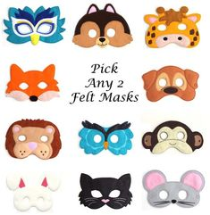 Dress-up for the perfect kids party or Sunday playtime with free printable masks for kids.Printable Masks, Fun Activities For Kids, Crafts For Kids. Mascaras Halloween, Halloween Masks, Halloween Kids, Mask For Kids, Masks Kids, Animal Masks For Kids, Activities For Kids, Crafts For Kids, Printable Masks