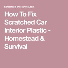 Best Car Scratch Remover Tips Carpet Cleaners